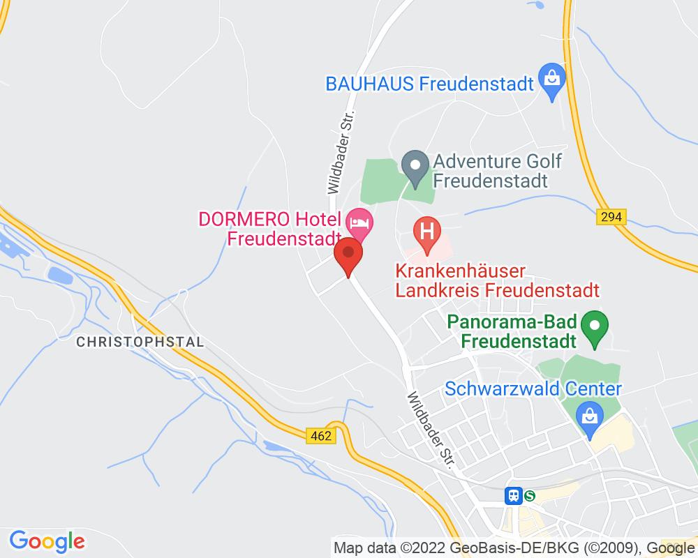Map of Waldhotel Luise