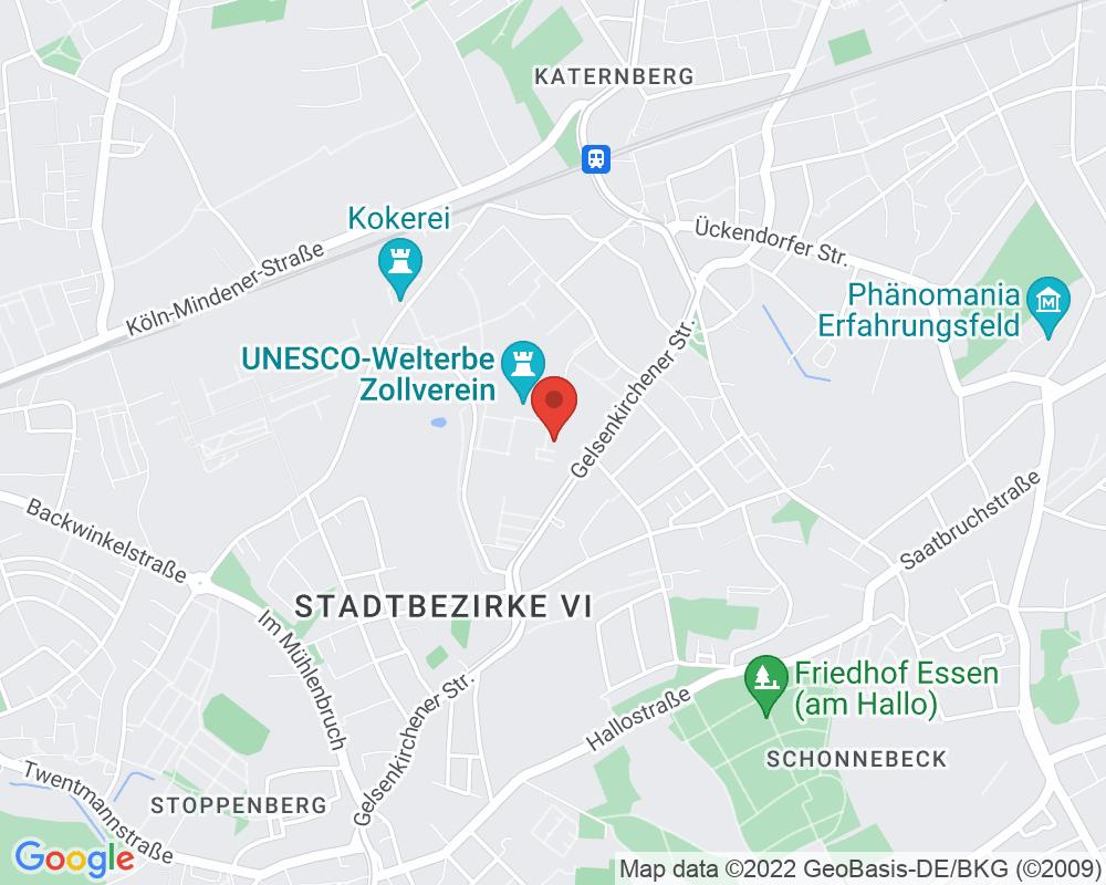 Map of Zeche Zollverein