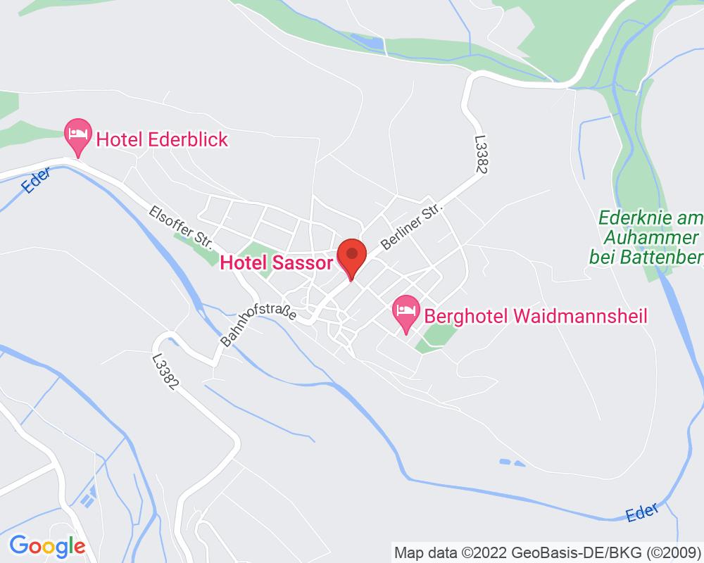 Map of Hotel Sassor