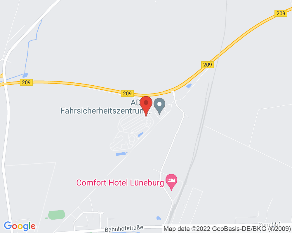 Map of ADAC Fahrsicherheitszentrum Hansa